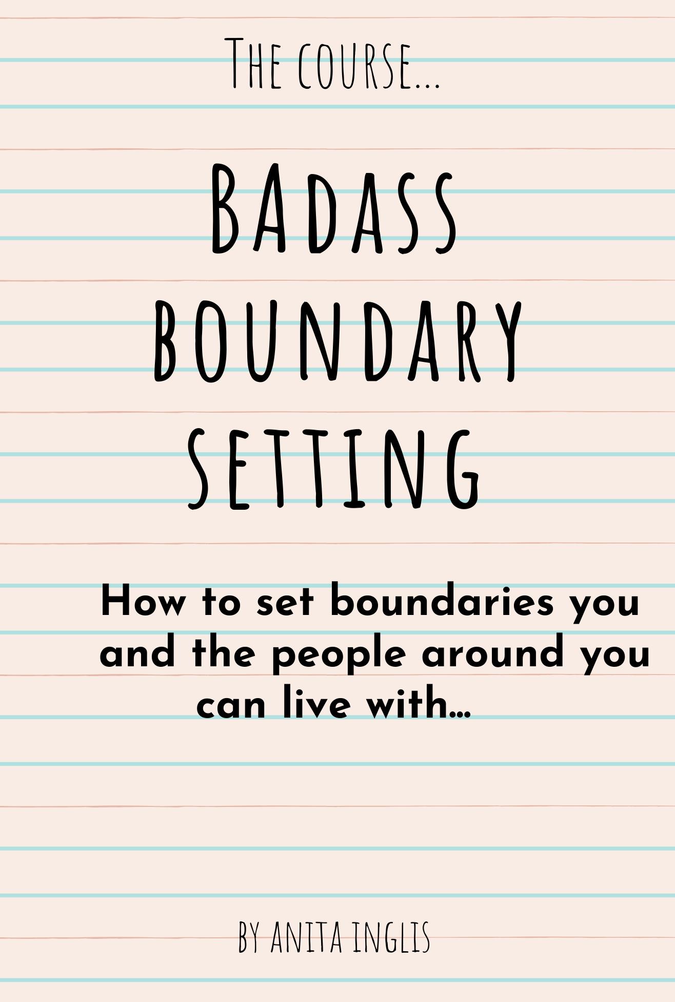 BAdass boundary settingpdf